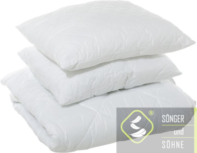 Набір Silber: ковдра 200x210 см + 2 подушки з кантом 50x70 см Sönger und Söhne
