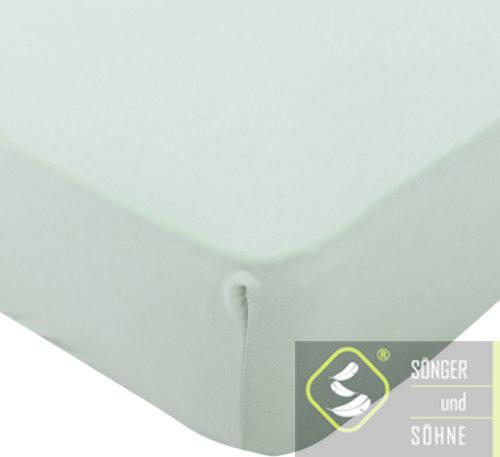 Простынь трикотажная 180×200 см Sönger und Söhne. Цвет: светло-зеленый