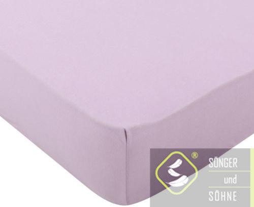 Простынь трикотажная 160×200 см Sönger und Söhne. Цвет: розовый