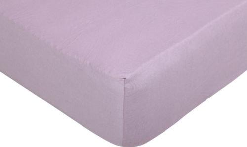 Простирадло на резинці трикотажне 140×200 см рожевий Sönger und Söhne