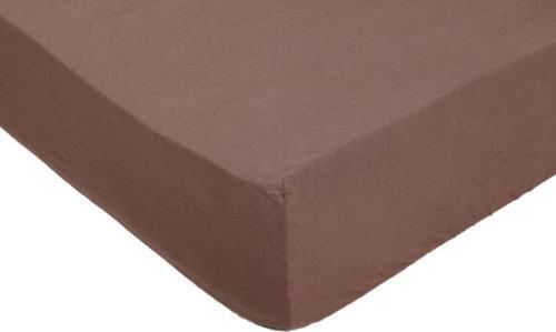 Простынь на резинке трикотажная 140×200 см шоколадный Songer und Sohne