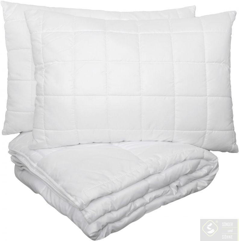 Набор одеяло 200х220 см + 2 подушки 50х70 см Bambus Songer und Sohne